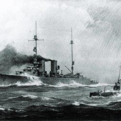 050 Kruiser van de Java-klasse en de onderzeeër Hr Ms K XVIII