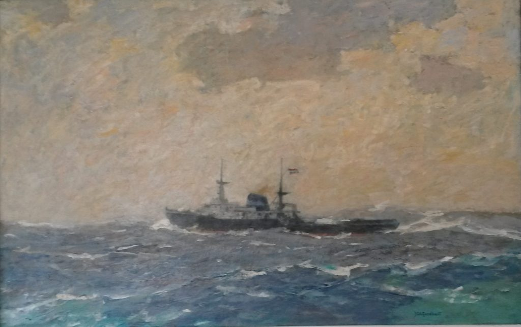 116 Zeesleepboot Witte Zee in een frisse bries
